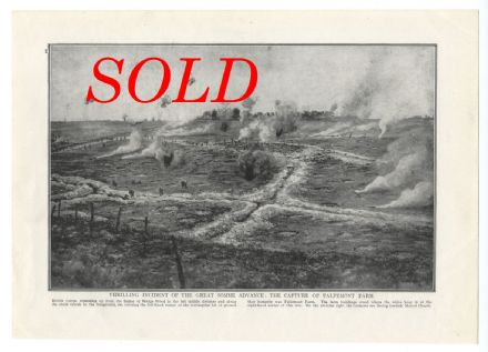 1916 GREAT SOMME ADVANCE Capture of Falfemont Farm WWI SOLD